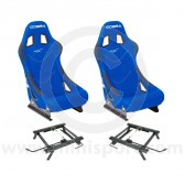 Cobra Monaco Pro Seat Package - Blue