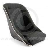 Cobra classic Mini seat black vinyl with cream piping