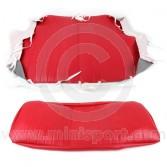 Cobra Rear Seat Cover - Red Vinyl COBRSC02