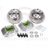 "MCPBRK.7.9V-S 7.9"" Mini Cooper Vented Brake Kit with Silver Alloy Calipers"