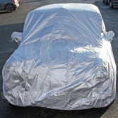 Mini car cover for outdoor use in grey