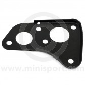 CRC8664 Mini 1989 brake servo type brake master cylinder and engine steady bar mounting plate, that fits to the engine bay bulkhead.