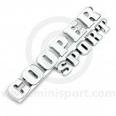 Classic Mini Chrome Cooper Sport Rear Boot Badge