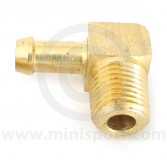 Facet Fuel Pump Brass Union - 90 degree - 5/16'' NPTF - 8mm tail