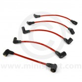 Red - 7mm Silicone Spark Plug Lead Set 81-96