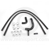 BLACK Mini Silicone Hose Kit