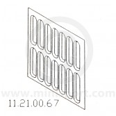 MCR11.21.00.67 Inner Wing Radiator Slats Repair - Mini '59-'69