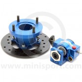 KAD Mini rear brake disc annodised in Blue