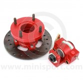 KAD1012070R KAD Mini rear brake disc and caliper conversion kit - red