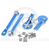 Quick Release Bonnet Pins - Blue