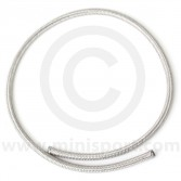 Stainless Braided Fuel Hose - 1m x 1/4'' ID