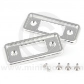 Cooper Alloy Billet Door Lock Covers - Silver