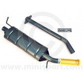 "1 7/8"" bore side exit single-box exhaust system for Mini SPi and MPi Injection models."