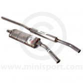 LST001A-SS Mini Maniflow Side Exit Stainless Exhaust - 1.75'' Twin Box