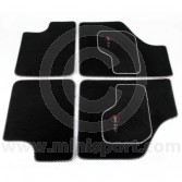 Cooper Logo Luxury Binded Carpet Mat Set
