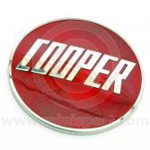 Enamel Metal Cooper Badge Emblems In Red