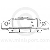 MCR52.18.01.00 Mini Cooper S Mk2-3, '67-'70, front panel assembly with diagonal stiffener for oil cooler fitment.