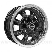 Minilite 5'' x 12'' Alloy Wheel - Black with Polished Rim