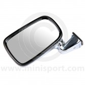 Cooper Style Left Hand Chrome Mirror