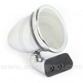 Adjustable Chrome Bullet Mirror - Flat Lens - Rover Door Mount Fitting - LH