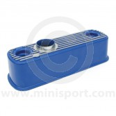 Rocker Cover - Blue with Polished Fins - Mini all models