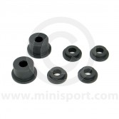 Uprated nylon Mini rear subframe bush kit. Fits all Mini models from 1976-2001.