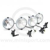 MSLMS0560 Rover Mini Cooper complete lamp complete kit with 2 fog and 2 spot lamps.