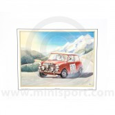 Paddy Hopkirk - 1964 Monte Carlo 33 EJB on the Home Straight Print - Signed by Paddy Hopkirk