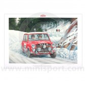 Paddy Hopkirk signed 1964 Monte Carlo Rally print