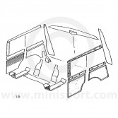 Interior Panel Kit - Rear - Mini Traveller 60-62
