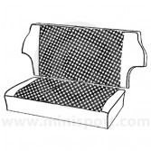 Rear Seat Cover Kit - Houndstooth - Mini 73-80