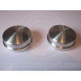 Mini Rear Hub Grease Caps - Alloy - pair