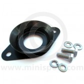 SMB126 Mini Clubman bonnet catch complete with fittings, manufactured from stainless steel and powder coated in black.