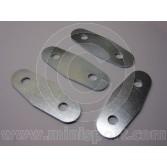 Mini Door Hinge Plates  - set 4 - Plated