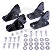Powder coated seat brackets for Classic Mini - 2 seats