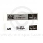 MPI Alternator and ECU Stickers - pkt 2)
