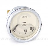 Smiths Oil Pressure Gauge - Electrical - Magnolia face with Chrome Ring