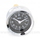 SMICA1100-01C Smiths Classic 12 hour analogue clock, 52mm gauge with magnolia face and chrome bezel.
