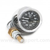 Smiths Dual Oil Pressure/Water Temperature Gauge - Black face with Black Ring