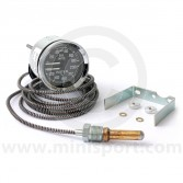 Smiths Dual Oil Pressure/Water Temperature Gauge - Black face with Chrome Ring