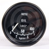 SMIPL2310-00B Mini Smiths Oil Pressure Gauge - Mechanical - Black with Black ring