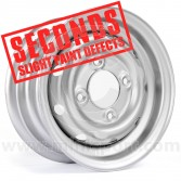 "Cooper S 4.5"" x 10"" Steel Wheel - Silver Clearance Seconds"