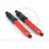 SPANGM1-158RMS Spax red adjustable Mini front shock absorbers each