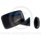 Door Mirror - Black - Convex - RH