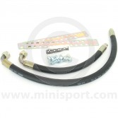 Oil Cooler Rubber Hoses - Clubman pair