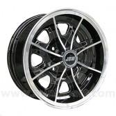 5.5 x 13 Dunlop D1 Wheel - Black with polished rim