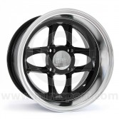 7 x 13 Mamba Wheel - Black/Polished rim