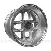 7 x 13 Mamba Wheel - Silver with polished rim