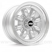 "Classic Mini 5"" x 10"" Minilight Wheel in Silver with Polished Rim"