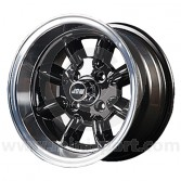 7 x 13 Minilight Wheel - Black/Polished Rim